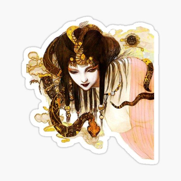 Yoshitaka Amano - Girl with Snake I Sticker