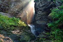Hopeful Rays Bless Minnehaha Falls by Gene Walls