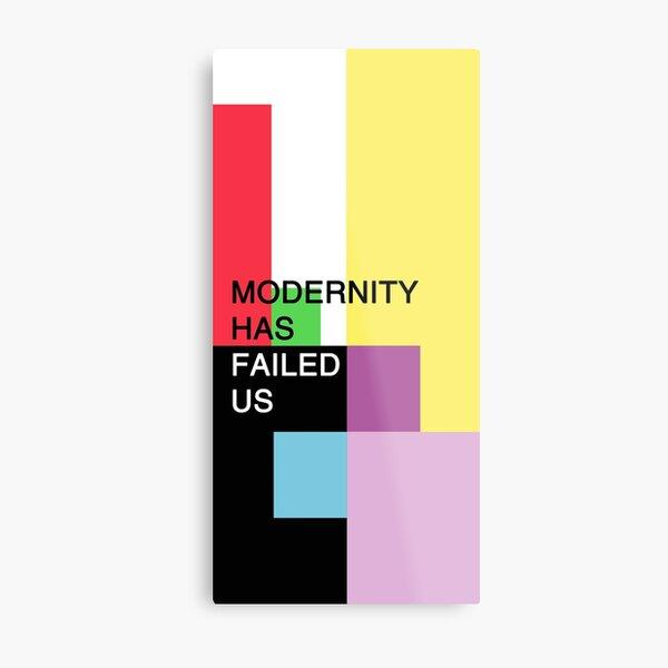 1975: la modernidad nos ha fallado Lámina metálica