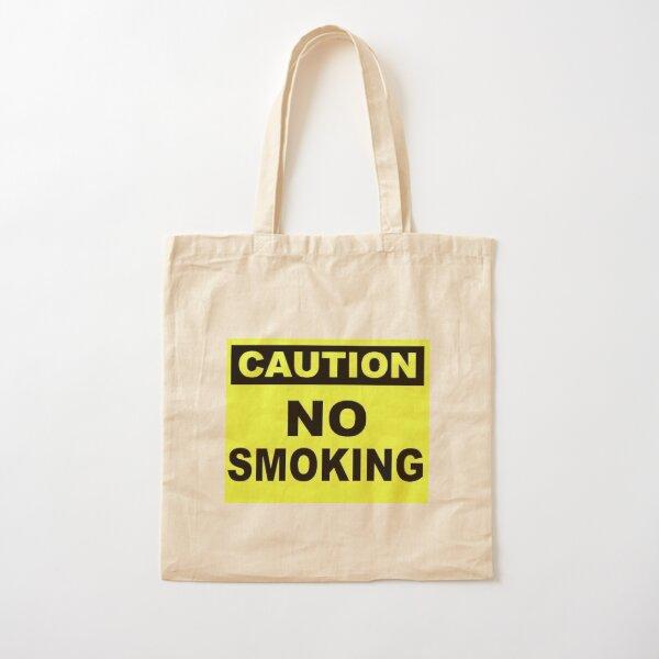Caution No Smoking Cotton Tote Bag