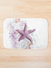 Pink  Passion Starfish  Bath Mat