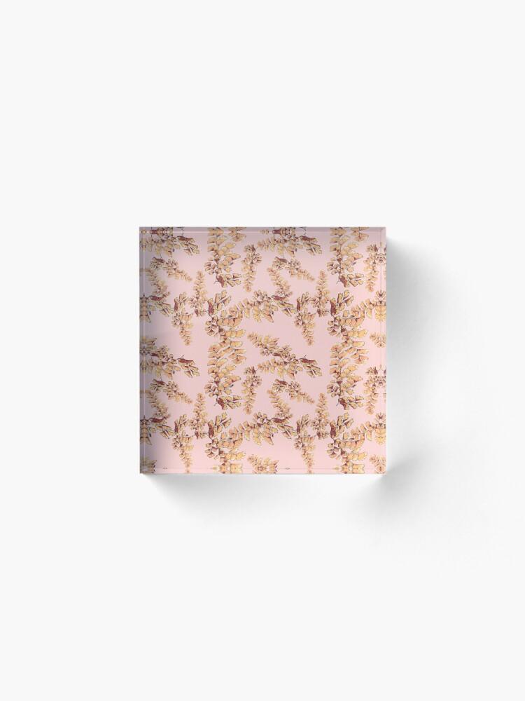 Alternative Ansicht von Goldene Blätter Muster Acrylblock