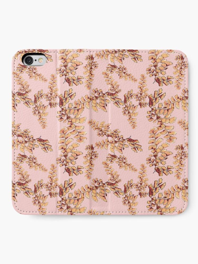 Alternative Ansicht von Goldene Blätter Muster iPhone Flip-Case