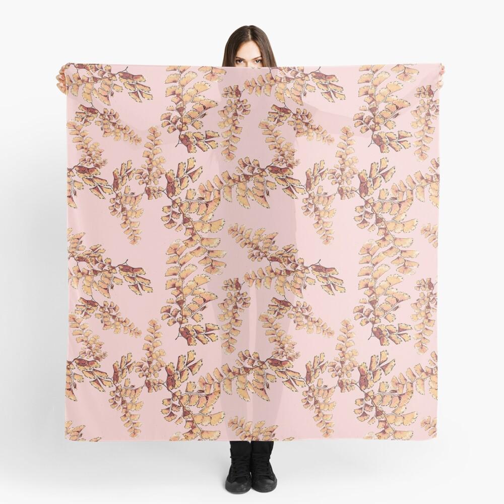 Goldene Blätter Muster Tuch