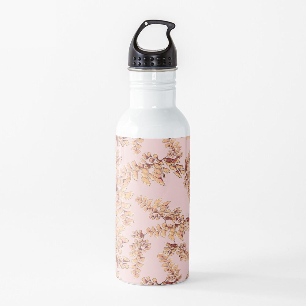 Goldene Blätter Muster Trinkflasche