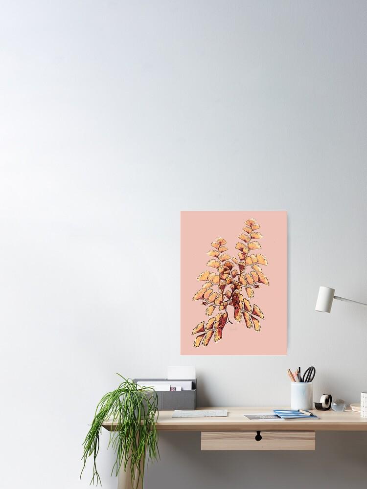 Alternative Ansicht von Goldene Blätter Muster Poster