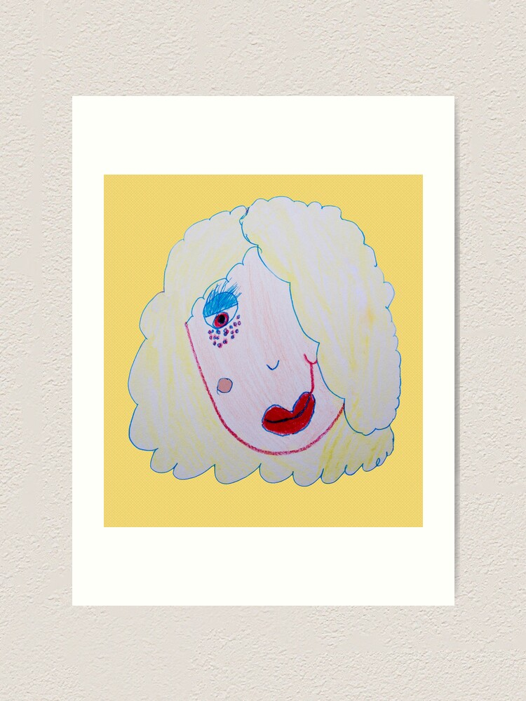 Alternate view of Blonde Girl With Freckles Art Print
