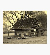 Vintage Dollhouse Cabin Photographic Print
