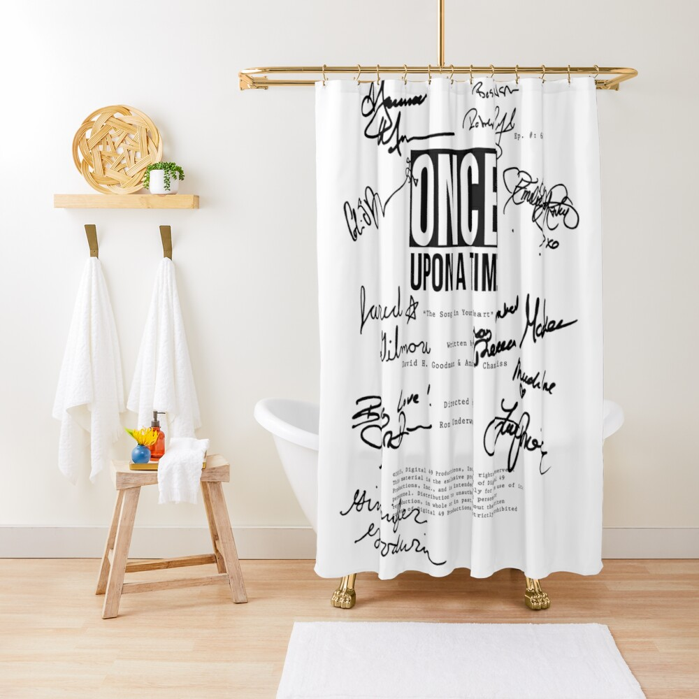 ouat script 620 Shower Curtain
