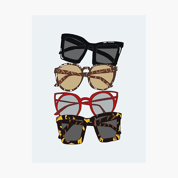 My favorite sunglass collection Photographic Print