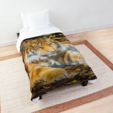 Big Cat (digital painting) Comforter