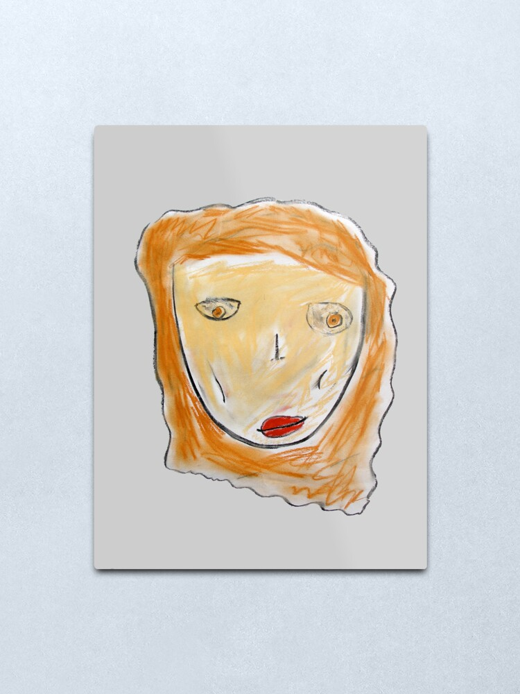 Alternate view of Red-Haired Girl Metal Print