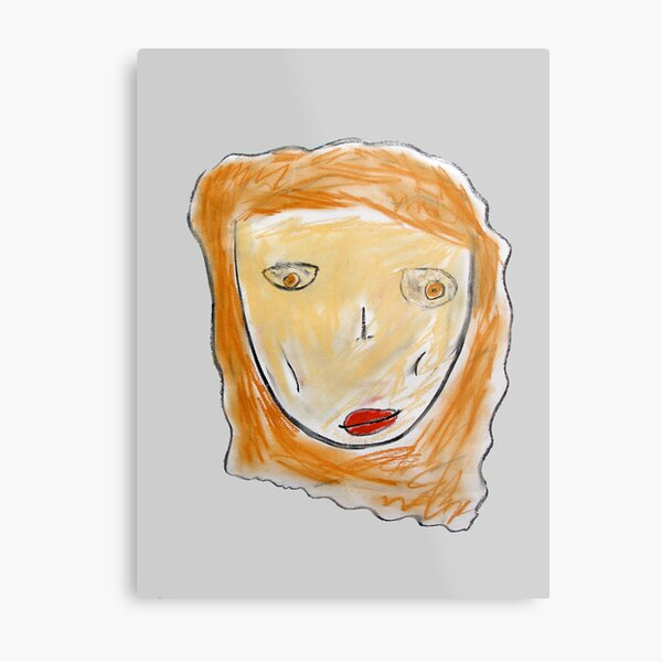 Red-Haired Girl Metal Print