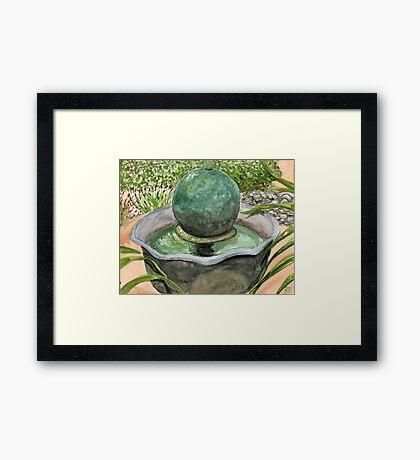 Netha's Fountain Framed Print
