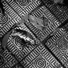 Pavers & Leaves by Michael  Herrfurth