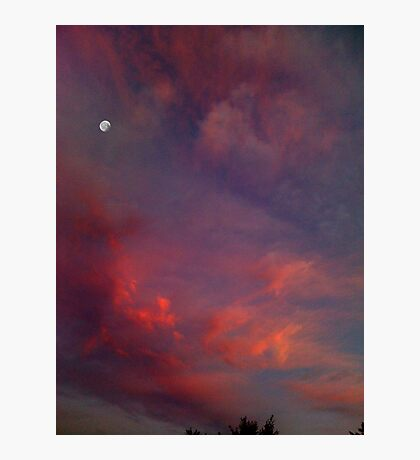 Evening Sunset Paints the Sky Photographic Print