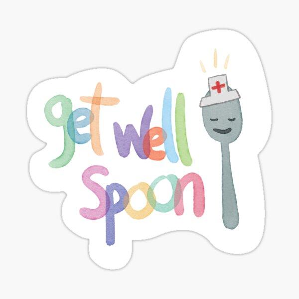 Get well soon nurse spoon! Sticker