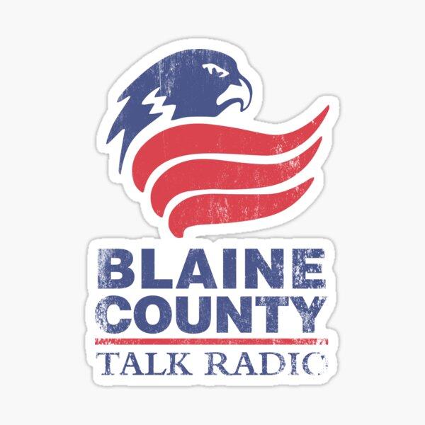 Blaine County Talk Radio Sticker
