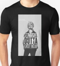 "Sanji ""Geradeaus Ostblau"" Slim Fit T-Shirt"