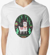 Pretty Lama V-Neck T-Shirt