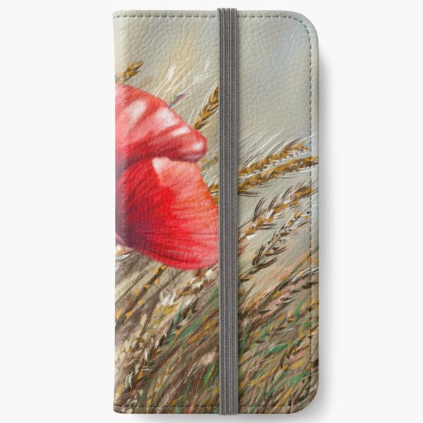 Poppies field iPhone Wallet