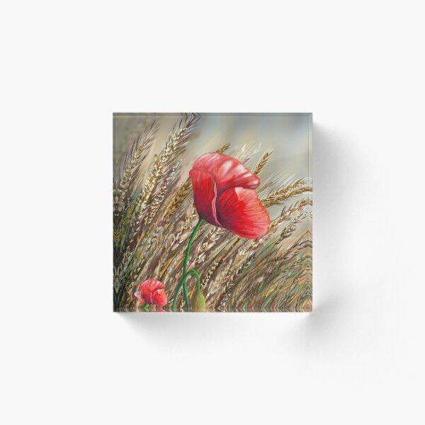 Poppies field  Bloque acrílico