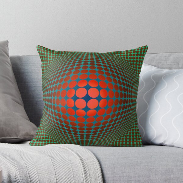 Copy of Victor Vasarely Homage 20 Throw Pillow