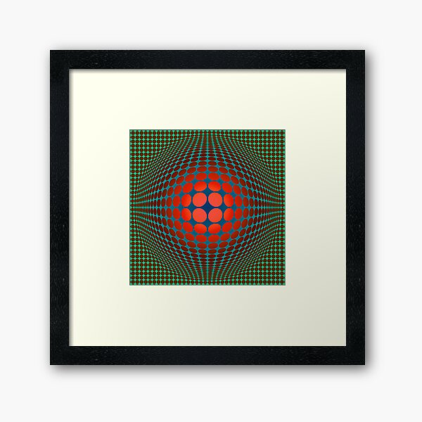 Copy of Victor Vasarely Homage 20 Framed Art Print