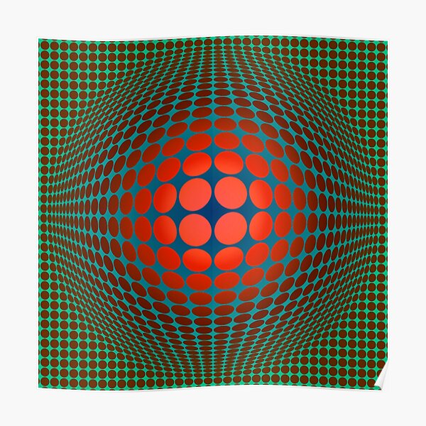 Copy of Victor Vasarely Homage 20 Poster