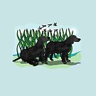 Black Curly Coated Retriever  by Diana-Lee Saville