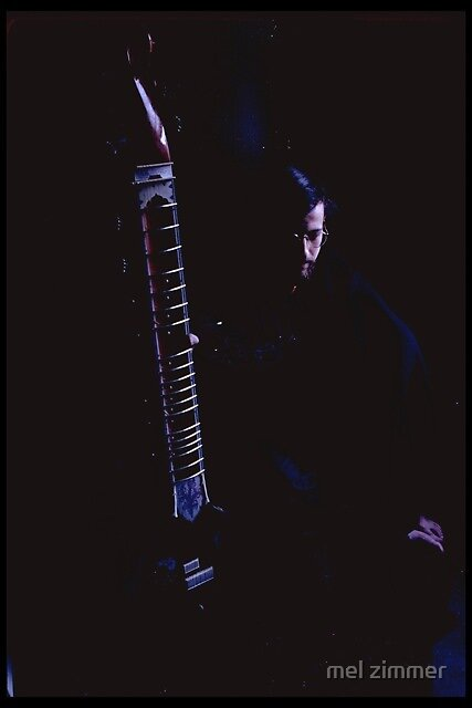 Rick Gold in Black Room by mel zimmer