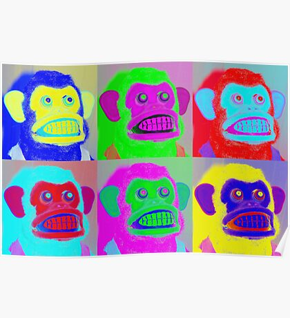 Pop Goes the Jolly Chimp Poster