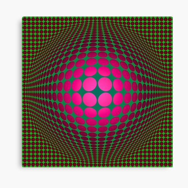 Victor Vasarely Homage 21 Canvas Print