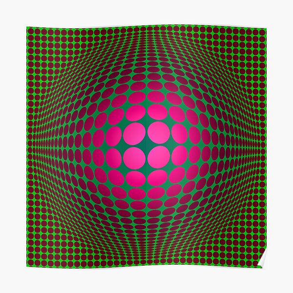 Victor Vasarely Homage 21 Poster