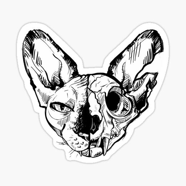 Sphynx skull Sticker