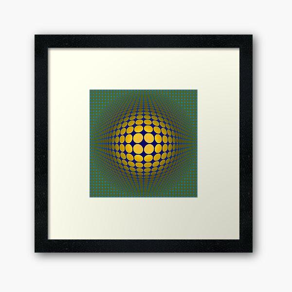 Victor Vasarely Homage 22 Framed Art Print