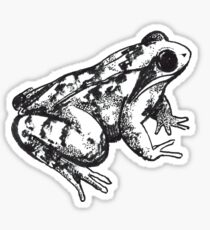 Black and White Frog Sticker