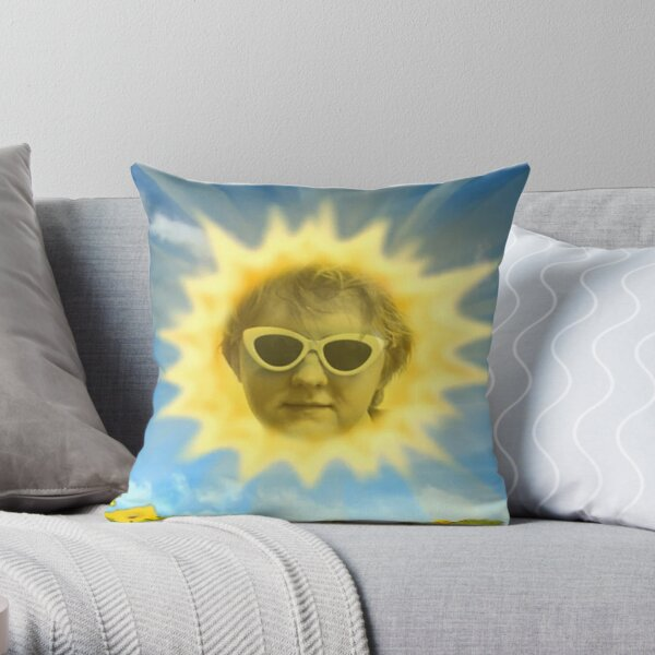 Lewis Capaldi as the Teletubbies sun Throw Pillow
