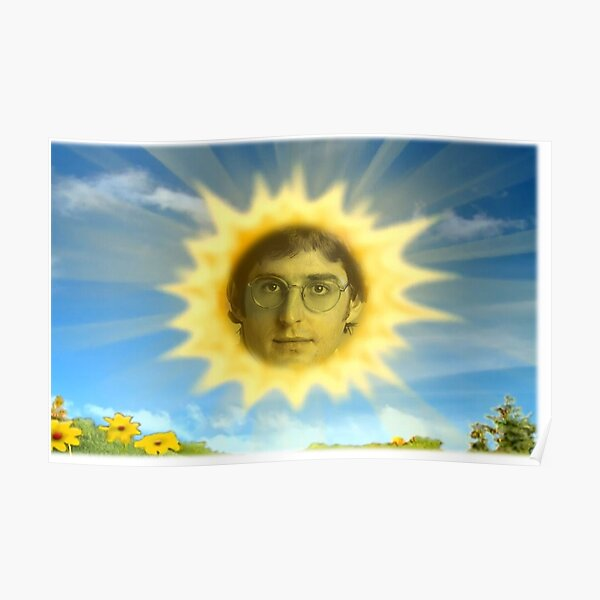Louis Theroux as the Teletubbies sun Poster