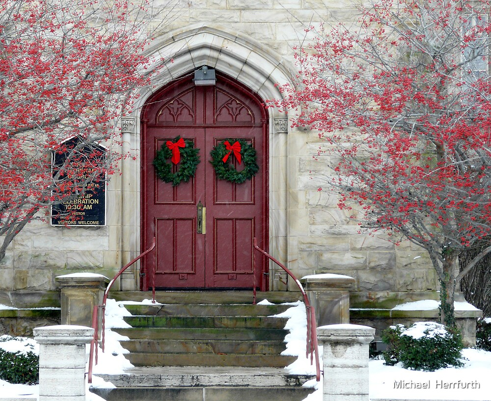 Red Cathedral Doors by Michael  Herrfurth