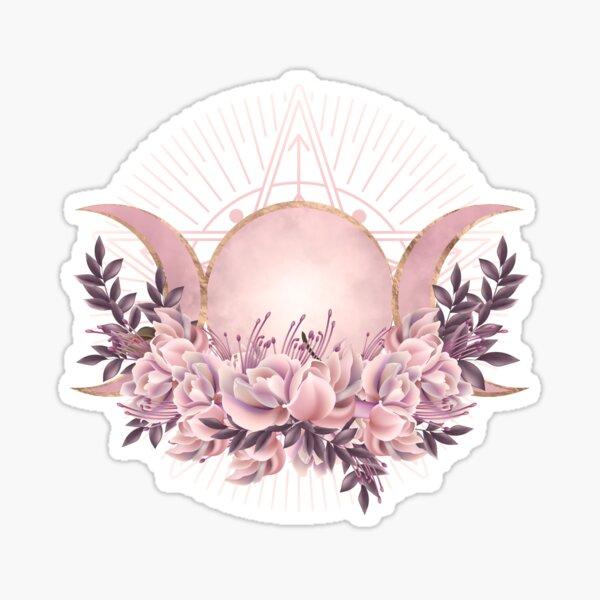 Triple Moon - Triple Goddess -Gentle Floral Sticker