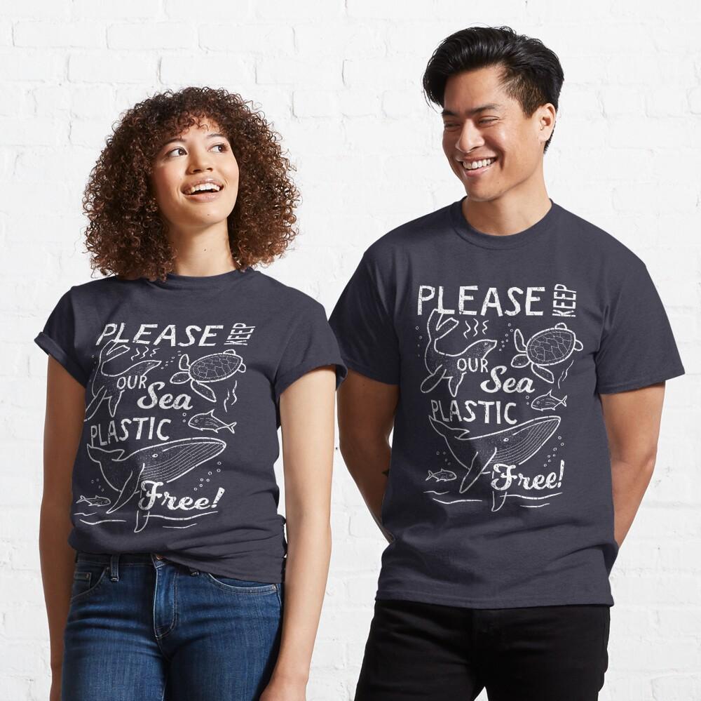 Please Keep Our Sea Plastic Free - Marine Animals Classic T-Shirt