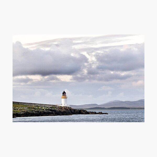 Lighthouse at Port Charlotte, Islay Photographic Print