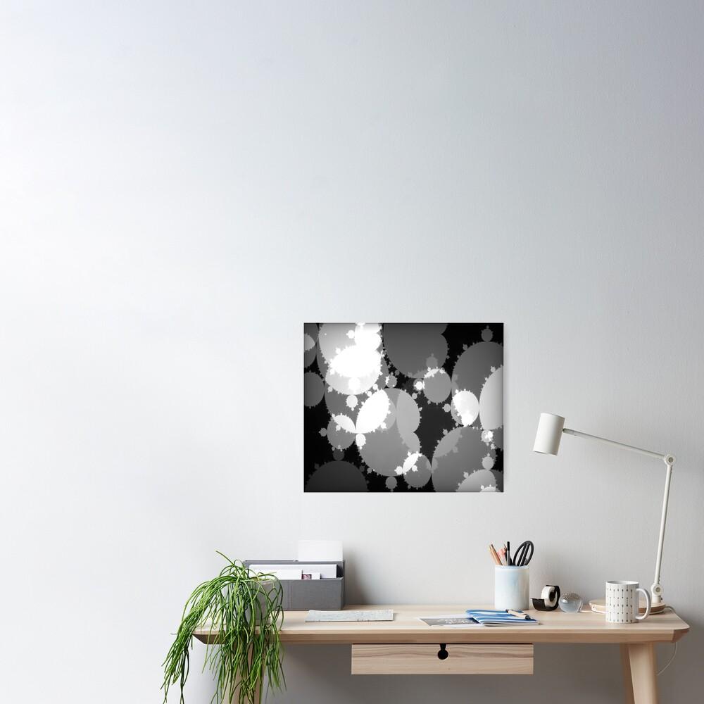 Monochrome Julia Poster
