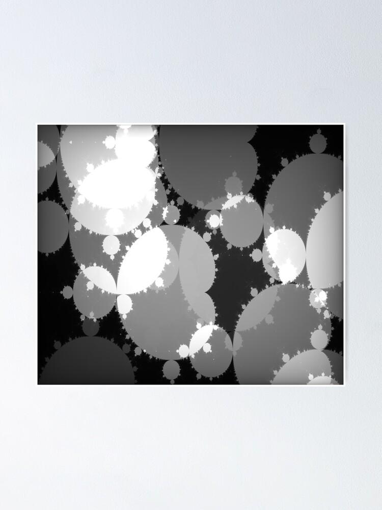 Alternate view of Monochrome Julia Poster