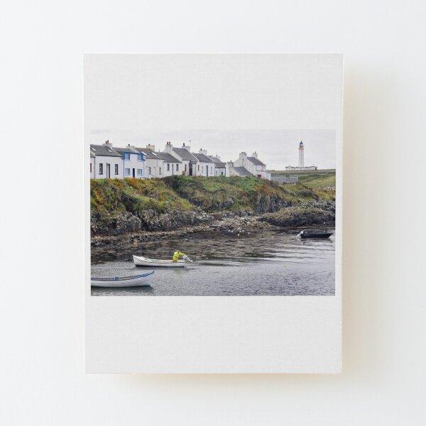 Mooring up at Portnahaven - Islay, Scotland Wood Mounted Print