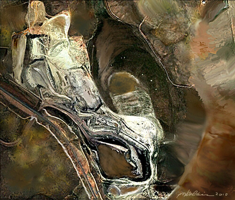 """""""Reclining Robot"""" - Silver robot resting in his cave. by Patrice Baldwin"""