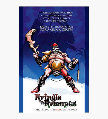 Kringle vs Krampus - MERRY CHRISTMAS 2010 Photographic Print