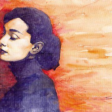 Audrey Hepburn 1 by shevchukart