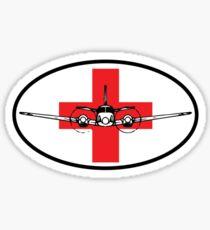 King Air C90 Medevac (front) Sticker